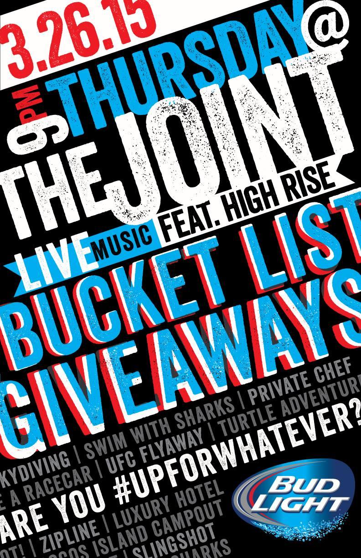 Bucket List Giveaways