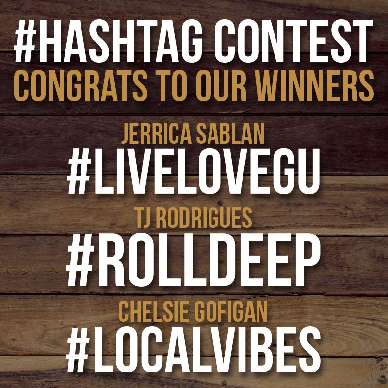 Congratulations to our #HASHTAG winners!