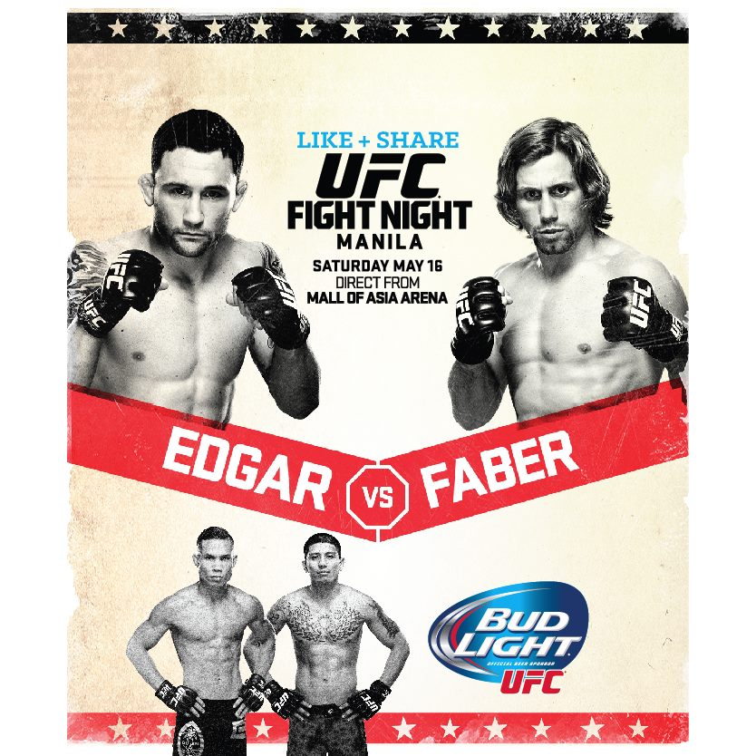 UFC Fight Night LIVE in Manila on May 16th!