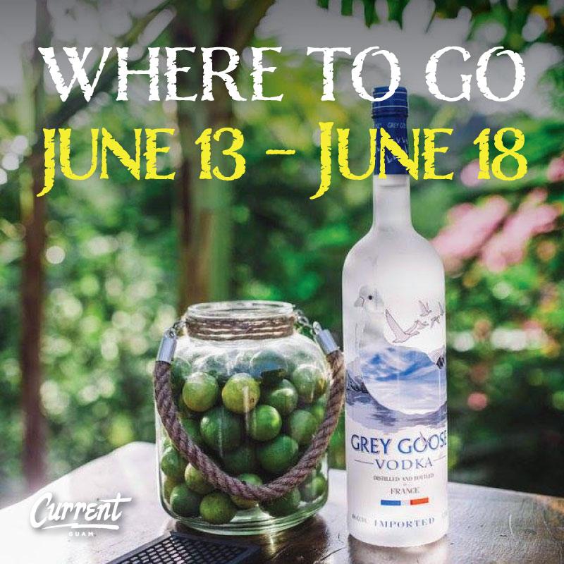 WHERE TO GO 6/13/16 – 6/18/16