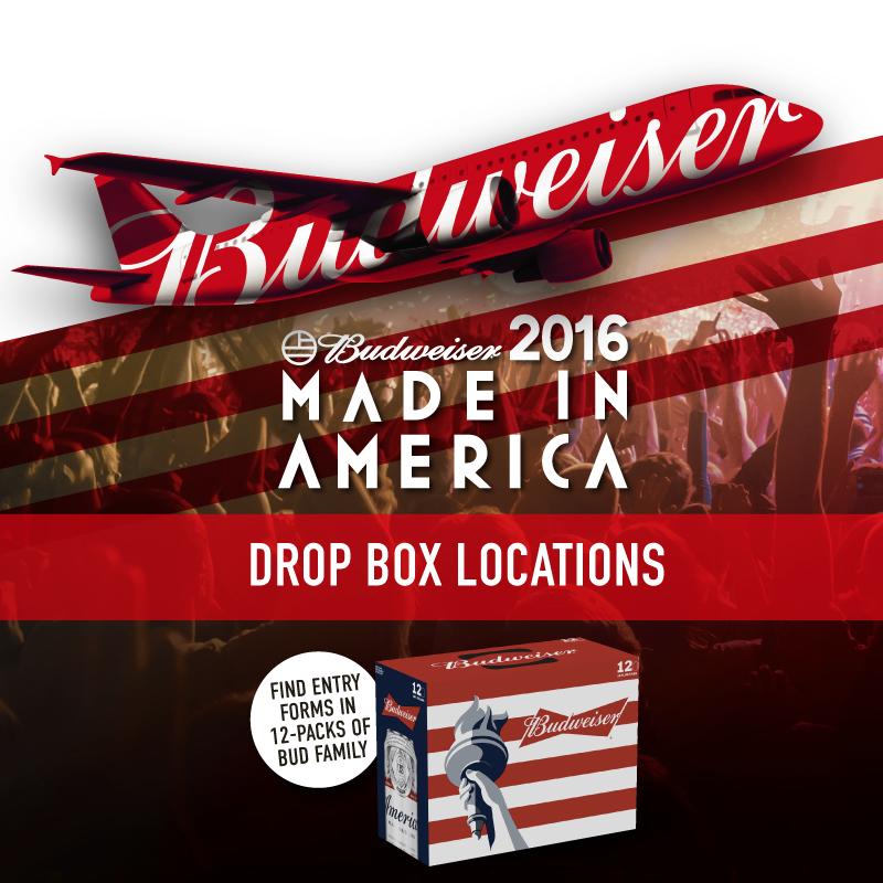 Bud MIA Drop Box Locations