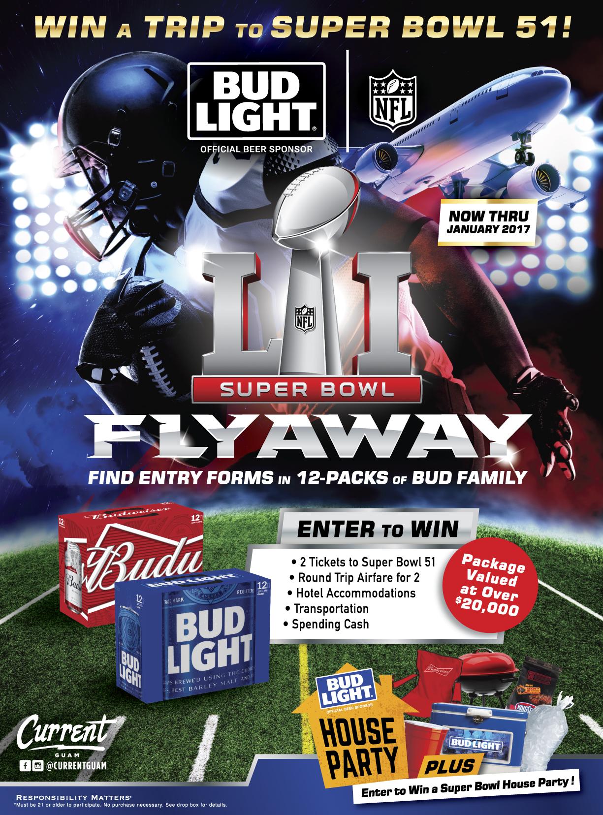 Bud Light Super Bowl 51 Flyaway