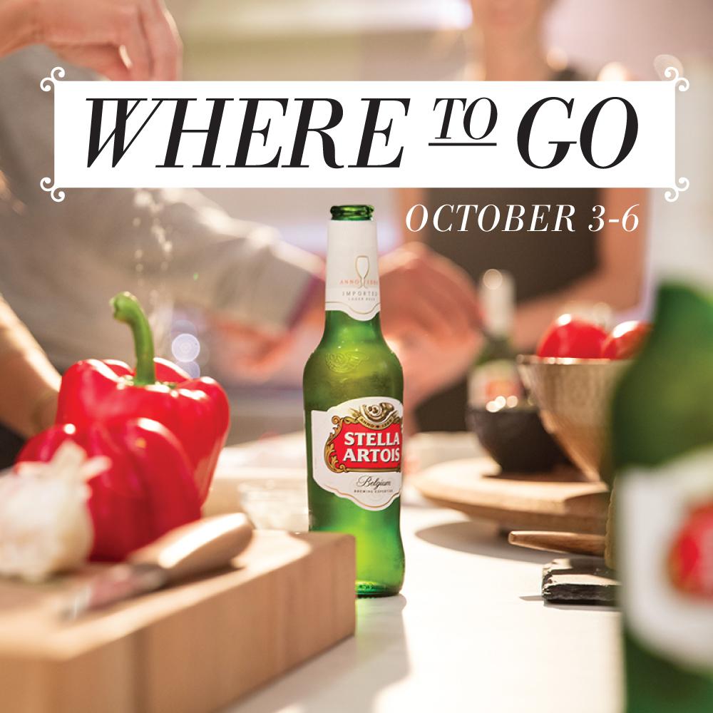 Where to Go 10/3-10/8