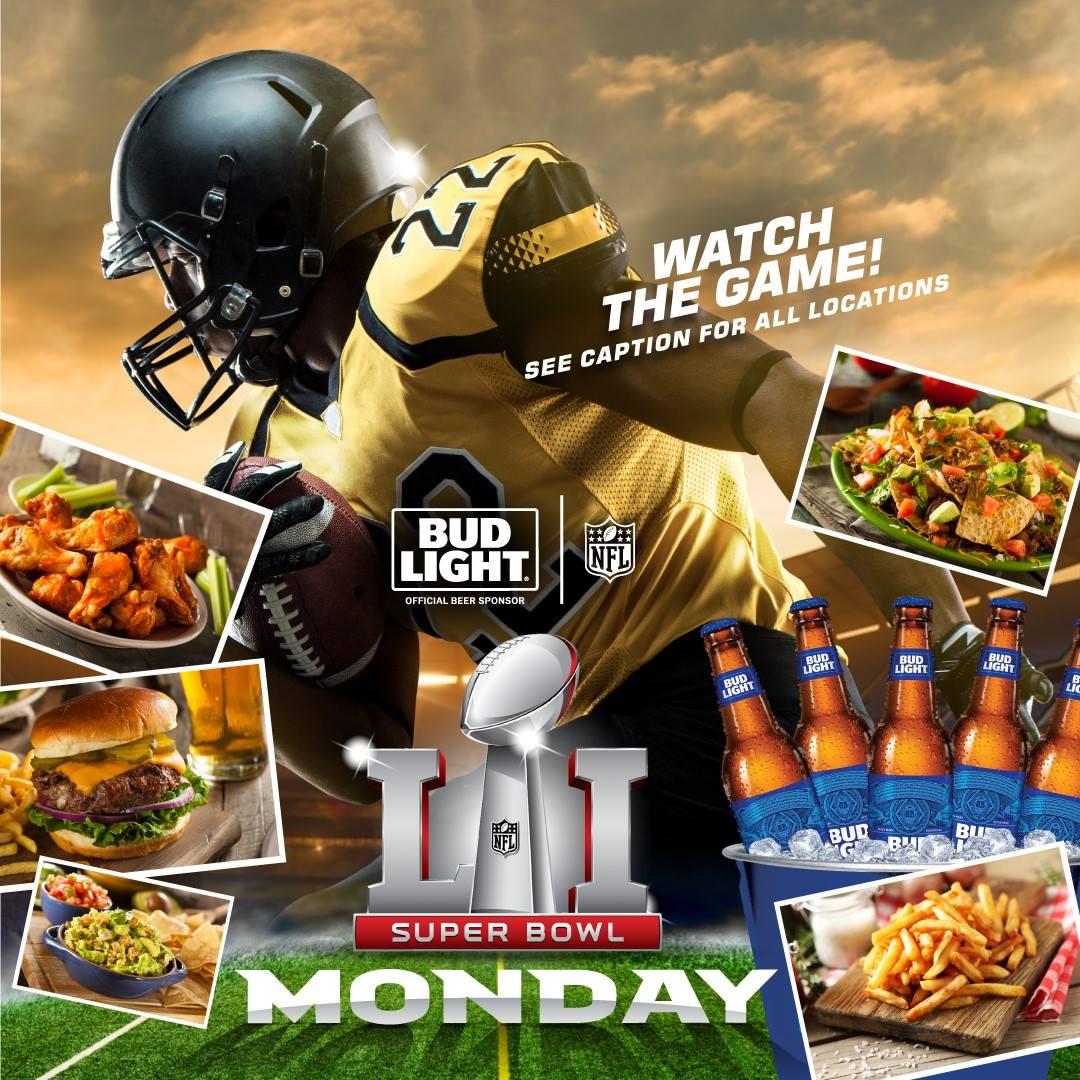 Bud Light Super Bowl 51 Watch Parties