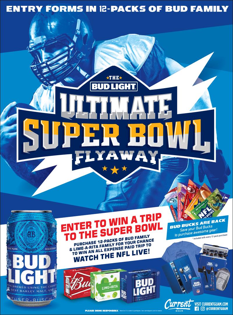 Bud Light Ultimate Super Bowl Flyaway | Current Guam