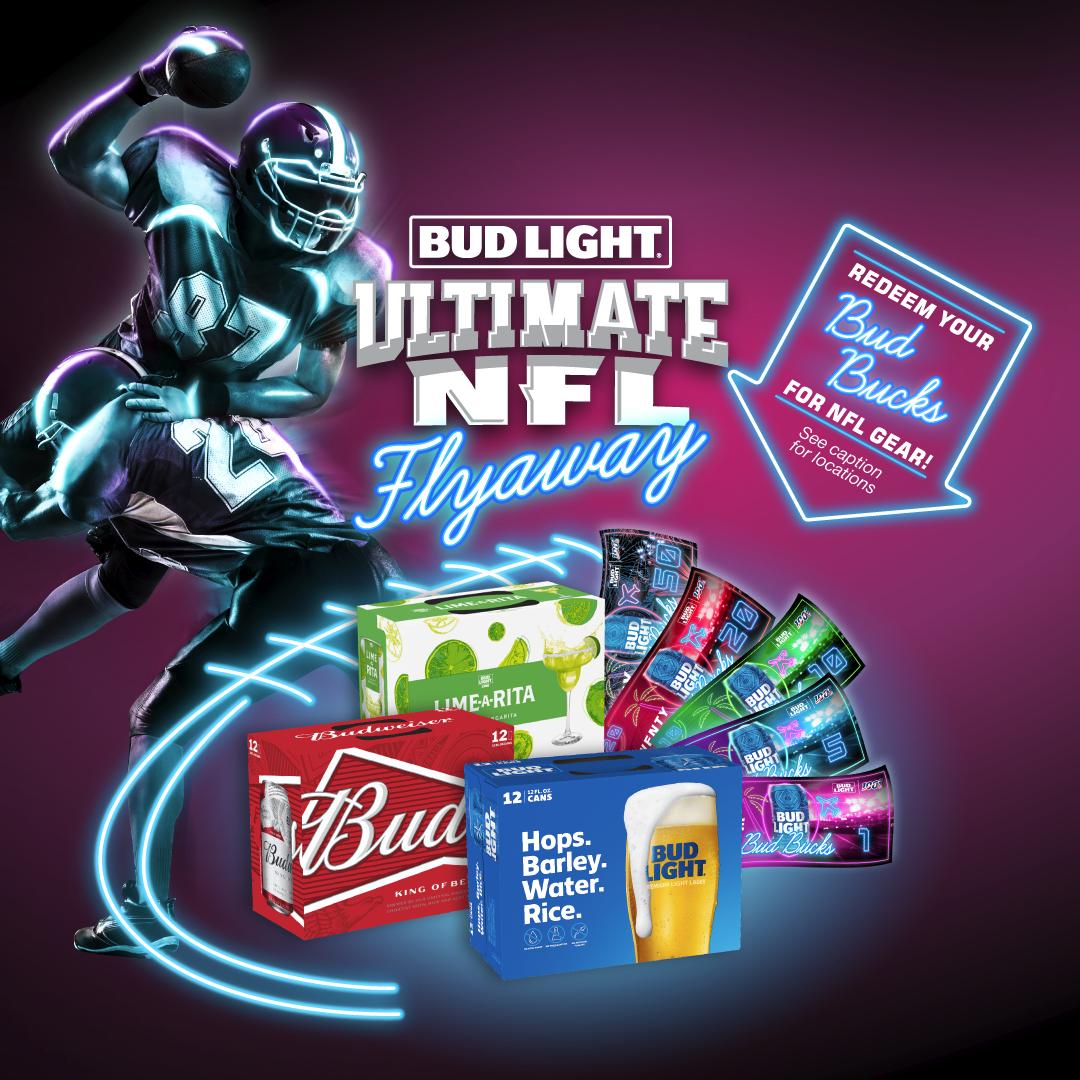 Bud Light Ultimate NFL Flyaway Redemptions 11/26-11/30